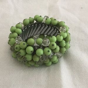 🌺Cool Vintage Glass Beaded Expandable Bracelet 🌺